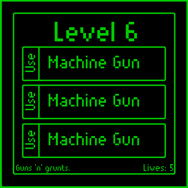 Three machine guns on Level 6.