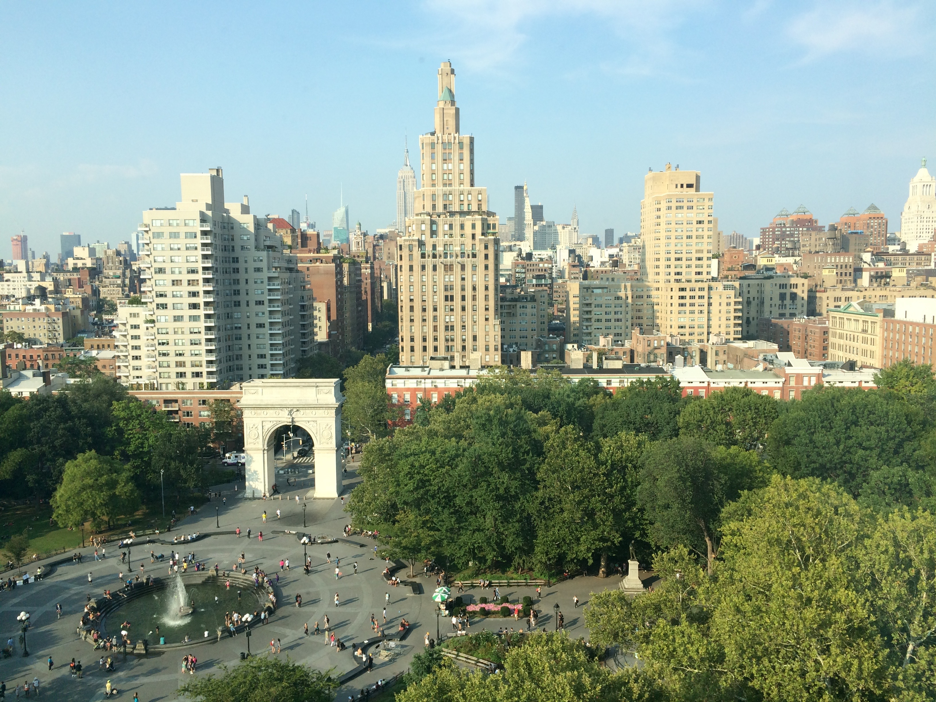 Washington Square Park seen from above.